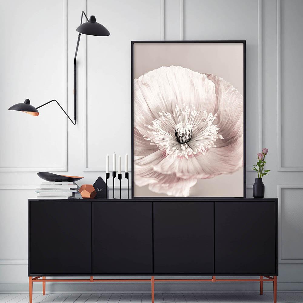 Rose Blush Pivoine Affiche Nordique Toile Peinture Mur art Affiches et Gravures Fleurs Photos Pour Salon Maison Scandinave 1