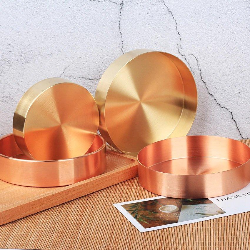 objet déco rangement en cuivre