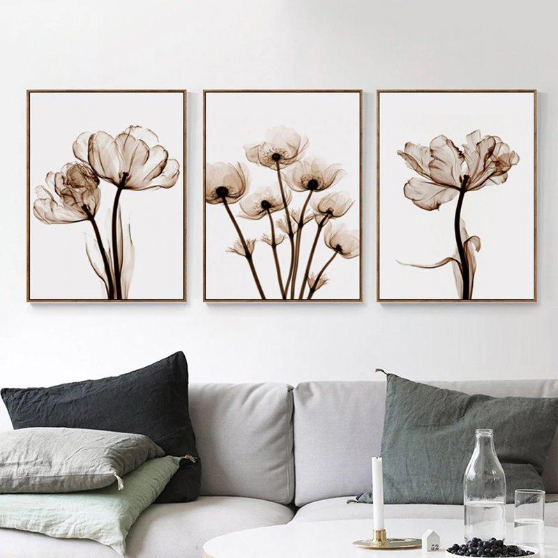 Affiche white flower