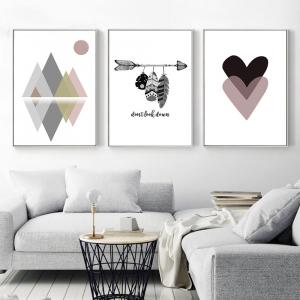 Bébé de Mur de Crèche Art Toile Peinture Abstraite Scandinave Affiche Gravures de Style Nordique Décoratif Image Moderne Décor À La Maison