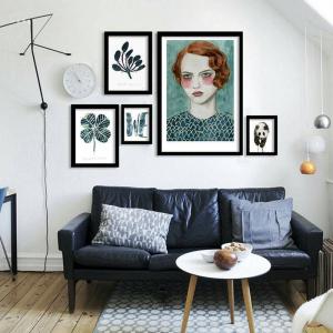 Affiche scandinave garden girl