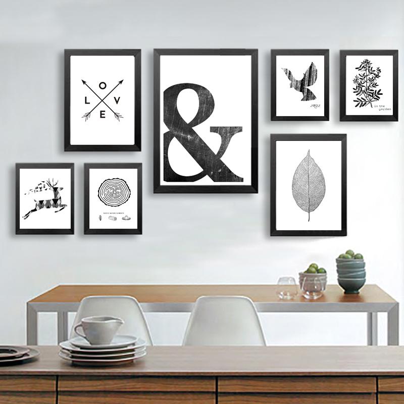Affiche scandinave minimaliste noir et blanc 1