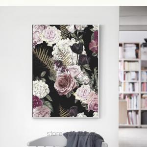 Affiche bouquet de rose Nordique 1
