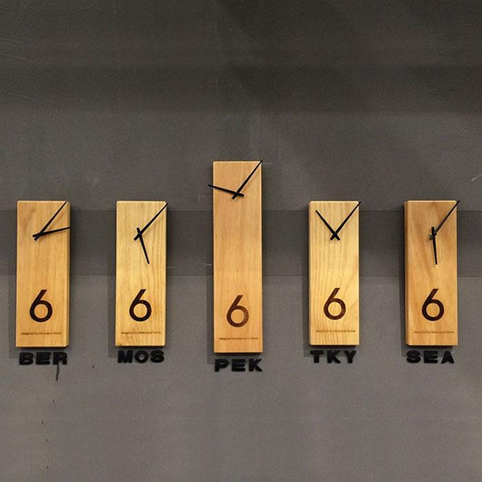 L'horloge bois design 1