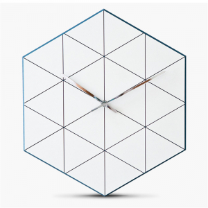 Horloge murale hexagone